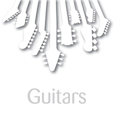 background with Guitar headstocks vector image vector image