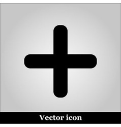 cross icon on grey background vector image