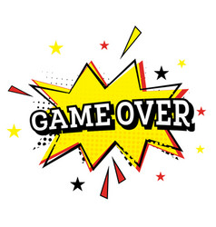 game over comic text in pop art style vector image