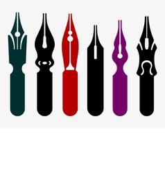 Pen nibs vector image vector image