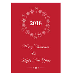 red greeting card for christmas - leaflet vector image vector image