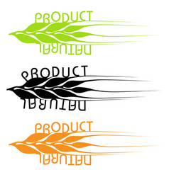 set of emblems of natural products vector image