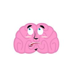 brain surprised emotion human brains emoji vector image vector image