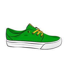 sketch of sport shoes sneakers for summer vector image