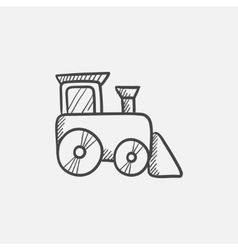 Toy train sketch icon vector image vector image