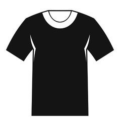 Tshirt icon simple style vector image