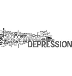 why do people get depressed text word cloud vector image vector image
