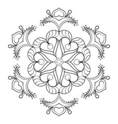 zentangle snow flake elegant mandala for adult vector image vector image