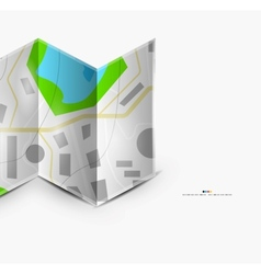 City map page with copyspace vector image vector image
