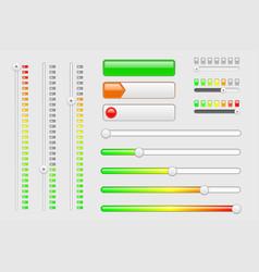 interface web elements internet sliders volume vector image vector image