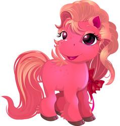 little beautiful pony vector image vector image