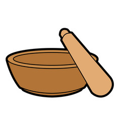 mortar and pestle icon image vector image