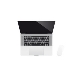 realistic modern laptop vector image