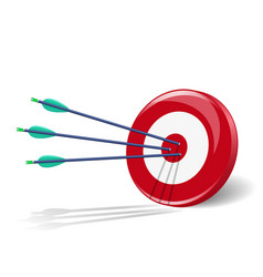 Arrows and target vector image vector image