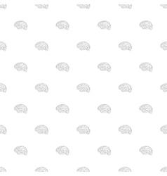 Brain icon seamless pattern vector image