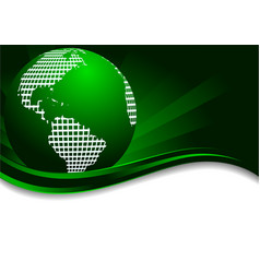 vector green background with earth vector image vector image