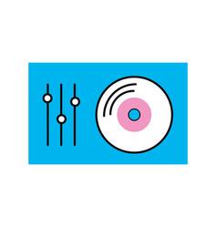 vinyl player console icon vector image