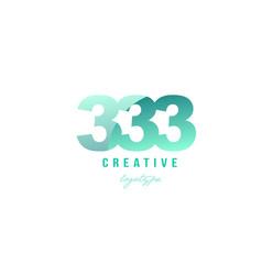 333 green pastel gradient number numeral digit vector