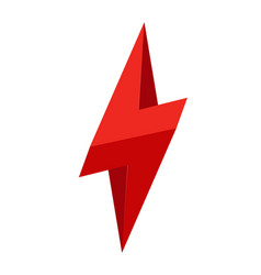 3d thunder logo lighting bolt logo flat style vector