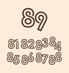 89 years anniversary celebration template design vector