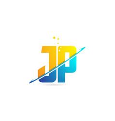 Alphabet letter jp j p combination for logo vector