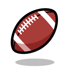 American football rugby sport ball logo line 3d vector