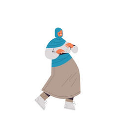 arabic woman in traditional clothes arab smiling vector image