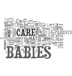 babies care text word cloud concept vector image