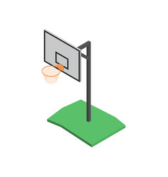 basketball shield with basket in isometric vector image