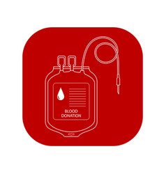 Blood transfer bag icon world donor day vector