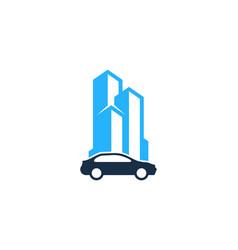 Building automotive logo icon design vector