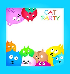 Cat party vector