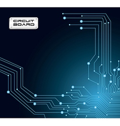 ccircuit board in blue tones with flashes vector image
