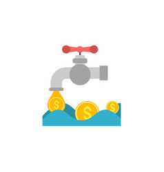 coin faucet flat icon vector image