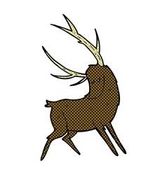 comic cartoon stag vector image