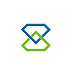 Connect diamond logo icon design vector