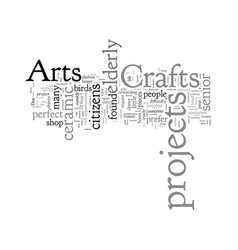 Crafts arts and crafts projects for senior vector