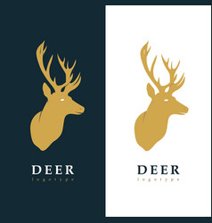 creative logotype stylized deer vector image