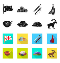Design culture and sightseeing logo set vector