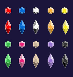 diamonds color set vector image