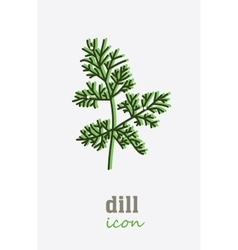 Dill icon Vegetable green leaves vector