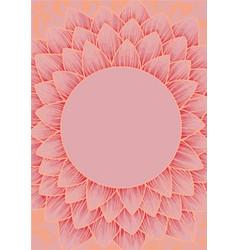 Doodle lotus mandala on pink background vector
