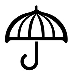 drawing umbrella icon simple style vector image