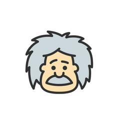 Einstein professor teacher or scientist vector