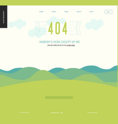 Error web page template - lanscape with mountains vector