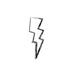 Figure thunder weather patch style design vector