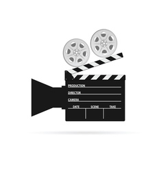 film camera roll black vector image