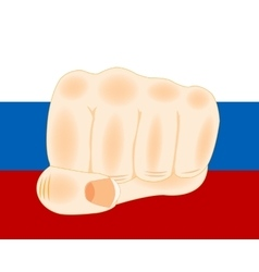 Flag and fist vector image