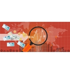 Foreign investment global money exchange growth vector