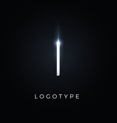 futurism style letter i minimalist type vector image